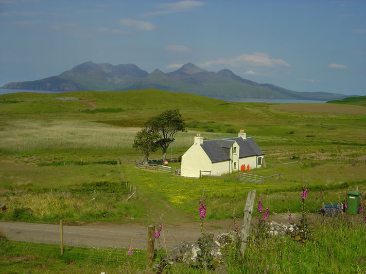 The tophouse overlooking Rum